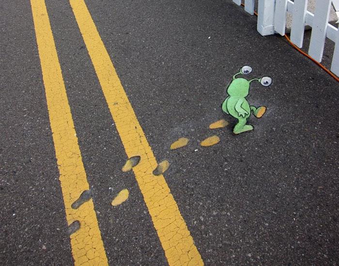 Стрит-арт от David Zinn