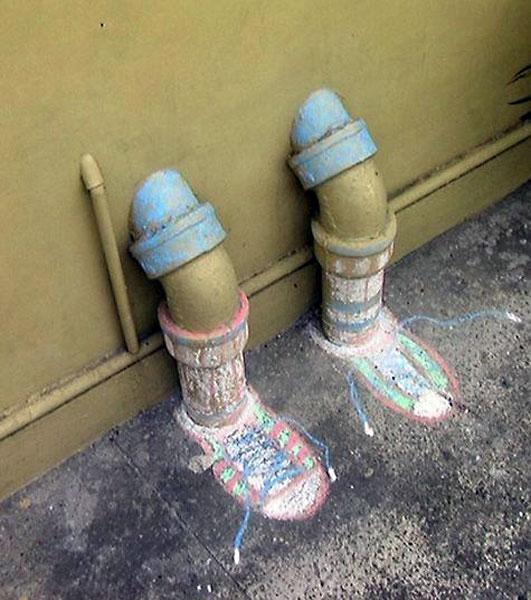 Остроумный стрит-арт в одном из Филиппинских колледжей