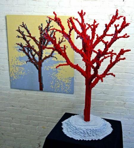 Скульптуры Натана Савайя(Nathan Sawaya) из кубиков Лего
