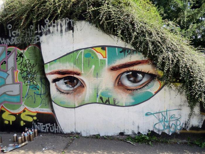 Стреет-арт Just Cobe из Фрайбурга, Германия