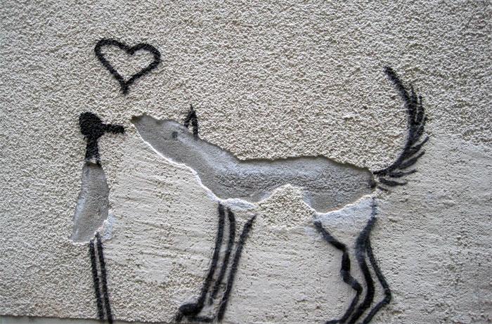 Минималистичный романтический стрит-арт из Лейпцига, Германия