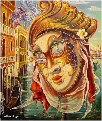 Лучший интерьер - картины на стену.  Венеция сквозь глаза маски.  Часть 2. Алекс Левин.