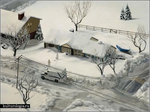 Миниатюрная жизнь на картинах Эми Беннетт