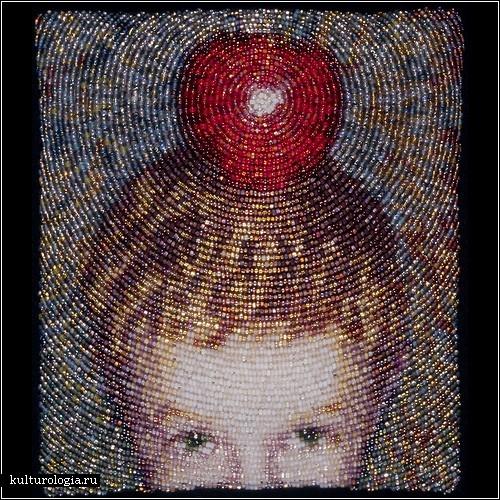 Вышитые бисером картины от Эми Кларк Мур