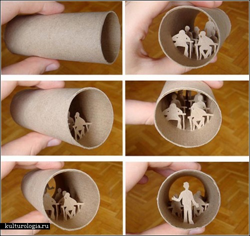 Бумажные скульптуры Анастасии Элиас