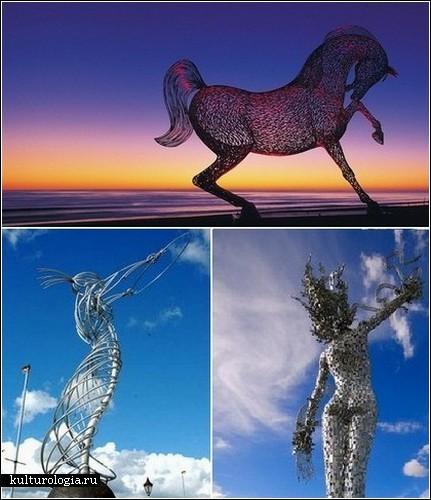 «Металлическая русалка». Скульптура Энди Скотта