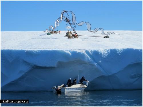Скульптура, путешествующая на айсберге. Арт-проет Апа Верхеггена