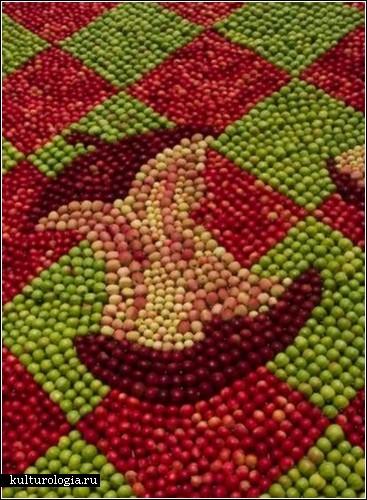 Картины из яблок