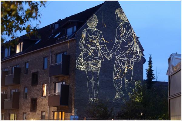 Пример романтического стрит-арта