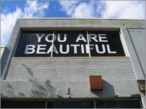 «You Are Beautiful» - пример позитивного стрит-арта