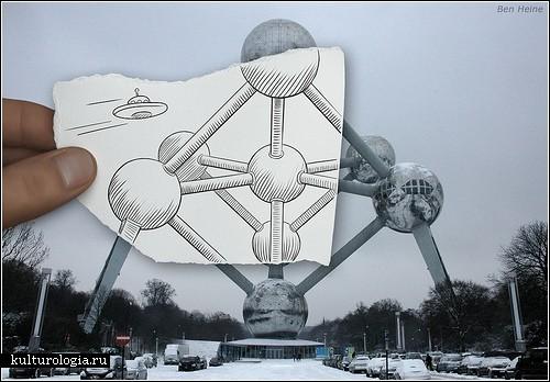 """""""Карандаш против камеры"""": эксперимент Бена Хайне"""