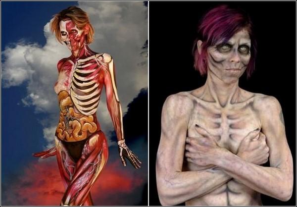 Боди-арт: поразительные примеры живописи на человеческом теле