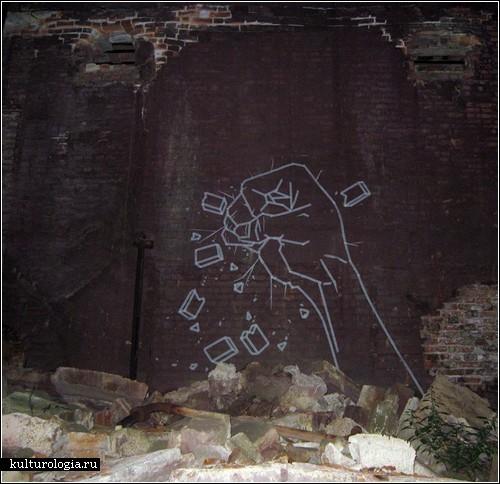 Стрит-арт от Buff Diss: рисунки малярным скотчем