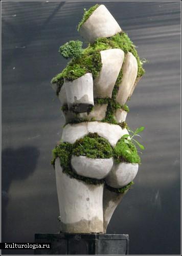 Необычная садовая скульптура своими руками