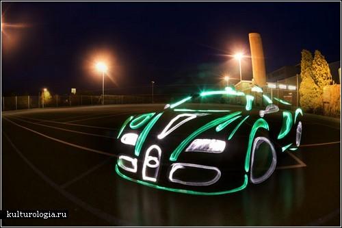 «Light Graffiti Cars Project»: автомобили, нарисованные светом