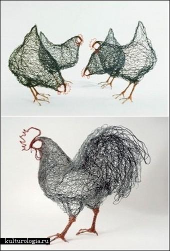 Проволочные рисунки Селии Смит