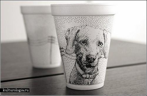 Рисунки на одноразовых стаканчиках