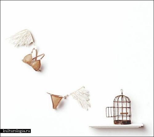 Миниатюрные скульптуры из японской бумаги от Кибелы Янг