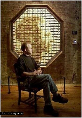 Деревянное зеркало Дэнни Розина