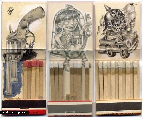 Миниатюры на спичечных коробках от Джейсона Д'Аквино