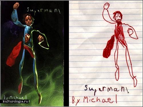 Детские рисунки глазами взрослых: проект Дэйва Девриса