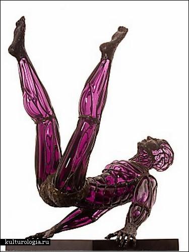 Тандем стекла и металла в скульптурах Дэвида Беннета