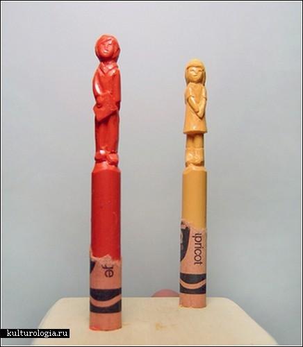 Cкульптуры из цветных мелков от Дьем Чау