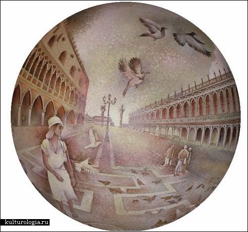 Картины на сферах от Дика Термеса