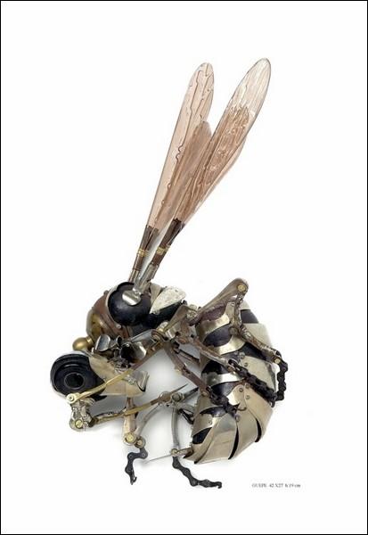 Животные из металлолома от Edouard Martinet