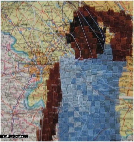 Вышивка Эрин Элизабет Рид: цифровые технологии VS живое общение