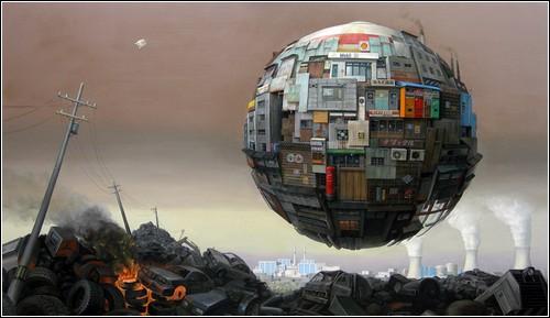 Летающие города в творчестве современных художников