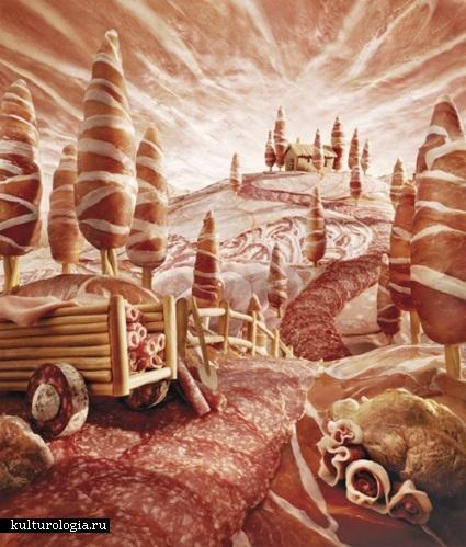 «Съедобные пейзажи» Карла Уорнера