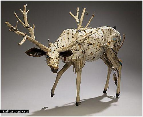 Животные из веток от Джеффри Гормана