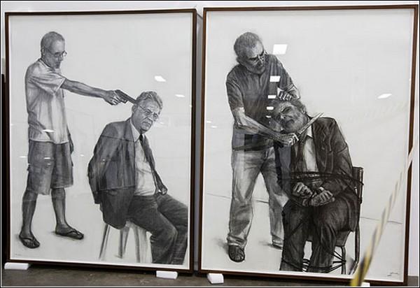 Мировые лидеры под прицелом: серия картин Джила Висенте