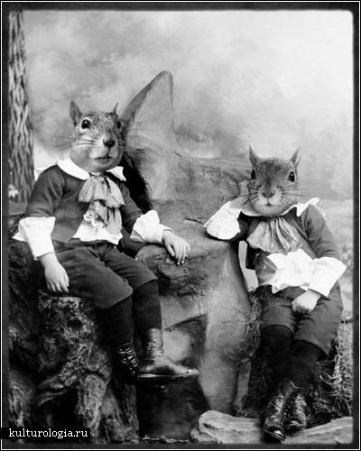 Люди как животные в фотопроекте Grand Ole Bestiary
