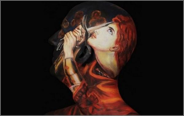 «Музей анатомии»: копии музейных картин на теле человека
