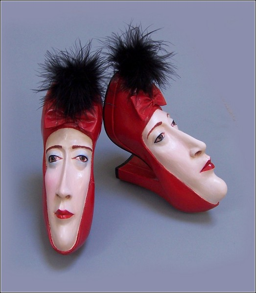 sculptures of shoes from gwen murphy.