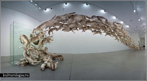 «Head On». 99 волков в инсталляции от Cai Guo-Qiang