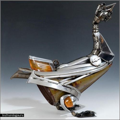 Скульптуры из автомобильных деталей от Джеймса Корбетта