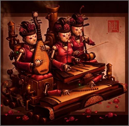 Китайский стимпанк в иллюстрациях Джеймса Инга