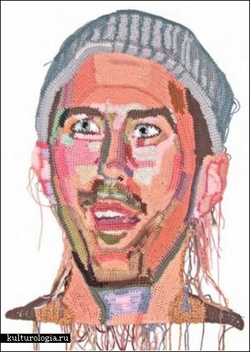 Вязаные портреты от Джо Хэмилтон