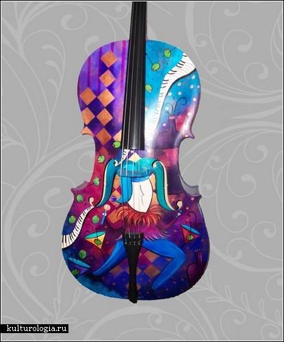 Расписанные скрипки от Джулии Борден