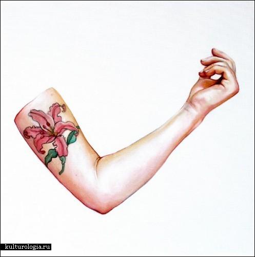 Нарисованные татуировки Джулиана Мигера