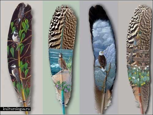 Роспись перьев от Джулии Томпсон