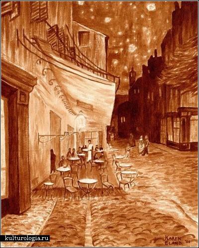 Кофейные картины от Карен Эланд