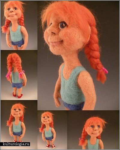 Войлочные куклы-карикатуры Кей Петал