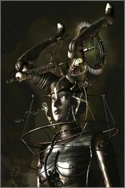 Киберпанковое цифровое искусство Казухико Накамуры