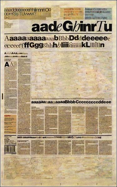 Ким Рагг предлагает не читать газеты, а оценить их графический дизайн