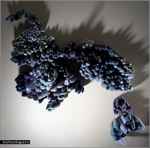 Тканевые инсталляции Лейзы Рич