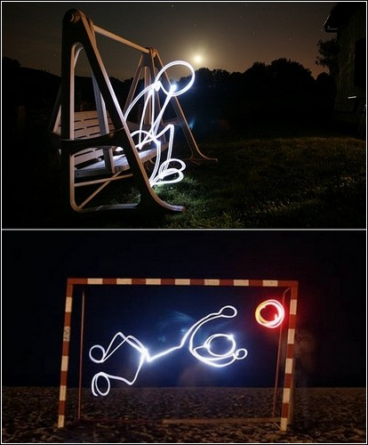 Самые яркие примеры искусства рисования светом